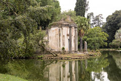 Caserta. A view of the garden of the Royal Palace of Caserta Royalty Free Stock Photo