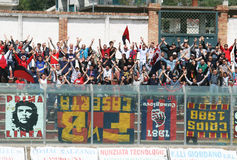 Casertana fans Stock Photos