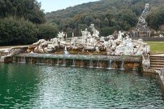 Caserte Royal Palace, fontaine de Vénus et d'Adonis Photographie stock libre de droits