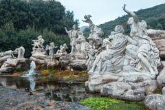Caserte Royal Palace, fontaine de Vénus et d'Adonis Image stock