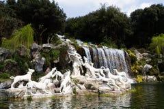Caserte Royal Palace, fontaines Photographie stock libre de droits