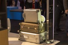 Cases. An array of suitcases at ids15 Stock Photo