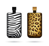 Cases for cell phone with animal print Royalty Free Stock Image
