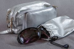 Cases for cosmetics and eyewear Stock Image