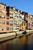 Cases de l'Onyar in Girona, Catalonia, Spain Stock Photos