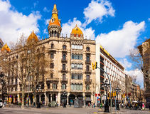 Cases Pons  by architect Enric Sagnier. Barcelona Royalty Free Stock Image