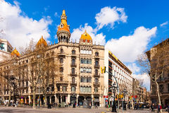 Cases Pons. Barcelona. BARCELONA, SPAIN - MARCH 28: Cases Pons in March 28, 2013 in Barcelona, Spain. Was built in 1890–1891 by Catalan architect Enric Sagnier Royalty Free Stock Photos