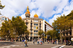 Cases Pons  in Barcelona, Spain Stock Images