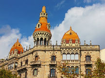 Cases Pons in Barcelona, Spain. Was built in 1890-1891 by Catalan architect Enric Sagnier Stock Photos