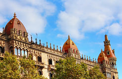 Cases Pons in Barcelona, Spain. Was built in 1890-1891 by Catalan architect Enric Sagnier Royalty Free Stock Image