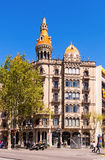 Cases Pons, built in 1890�1891 by Catalan architect Enric Sagn Stock Photography
