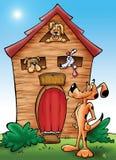 Caseta de perro stock de ilustración