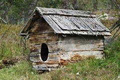Caseta de perro vieja Fotografía de archivo libre de regalías