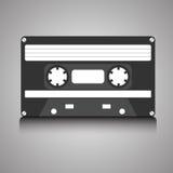 Casete audio retro 80s del vintage en fondo de la pendiente ilustración del vector