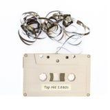 Casete de cinta con la escritura de la etiqueta Fotografía de archivo