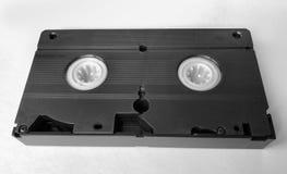 Casete viejo con video casero, cierre de VHS del vintage para arriba imagen de archivo libre de regalías