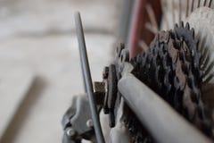 Casete y cadena del ciclo Imagen de archivo libre de regalías