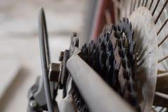 Casete y cadena del ciclo Fotografía de archivo libre de regalías