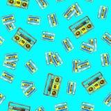Casetes audios y boombox retro libre illustration