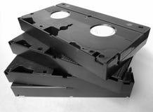 Casetes viejos de VHS del vintage con los video casero, cierre para arriba imágenes de archivo libres de regalías