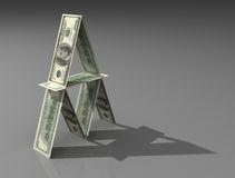 Casetta del dollaro Fotografia Stock Libera da Diritti