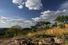 Casetta di Bongani del paesaggio Immagini Stock Libere da Diritti