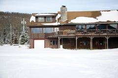 Casetta di inverno Fotografia Stock