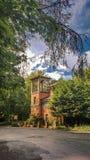 Casetta italiana vicino ad Alton Towers Fotografia Stock