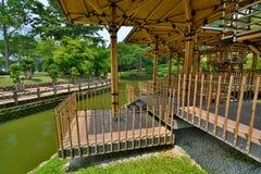Casetta per giocare di bambù Giardino botanico di Perdana Kuala Lumpur malaysia Fotografia Stock