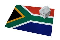 Casetta su una bandiera - Sudafrica Immagini Stock Libere da Diritti