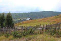 Casetta sul villaggio in Norvegia Immagini Stock