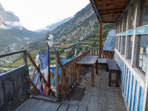 Casette in Pisang superiore, Nepal Fotografia Stock