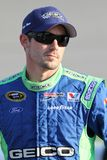 Casey Mears at track Stock Images