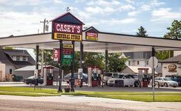 Casey ` s Benzynowa stacja Obrazy Stock