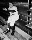 Casey Stengel New York Yankees manager. Former New York Yankees manager and Hall of Famer Casey Stengel speaks to reporters before a game. (Image taken from B&W Royalty Free Stock Photo
