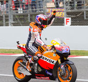 Casey Stoner celebrating the victory Stock Photography
