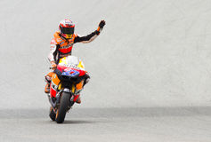 Casey Stoner celebrating the victory Stock Images