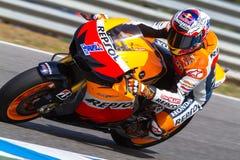 Casey Stoner proef van MotoGP Stock Foto's