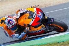 Casey Stoner som är pilot- av MotoGP Royaltyfri Fotografi