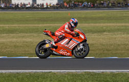 Casey Stoner, the winner of MotoGP 2008 race Royalty Free Stock Images