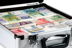 Cash. A briefcase full of cash Royalty Free Stock Photography