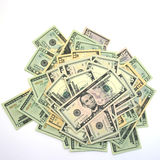 Cash. Top view of money on a stack Royalty Free Stock Images