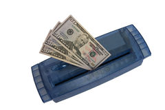 Cash. Put the money into the shredder Royalty Free Stock Image