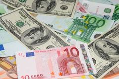 Cash. Money dreams. Euro dollars and other royalty free stock images