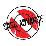 Cash Advance rubber stamp Royalty Free Stock Images
