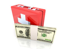 Cash aid emergency. 3D rendered Illustration. Cash aid emergency Royalty Free Stock Photography