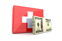 Cash aid emergency. 3D rendered Illustration. Cash aid emergency Stock Image