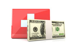 Cash aid emergency. 3D rendered Illustration. Cash aid emergency Royalty Free Stock Images