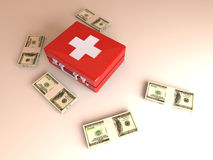 Cash aid emergency. 3D rendered Illustration. Cash aid emergency Royalty Free Stock Photo