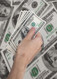 Cash american dollars Stock Images
